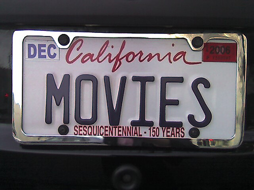 Movie license plate