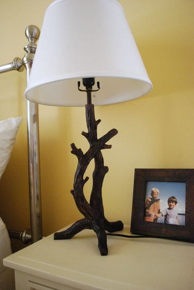 Lake driftwood lamp