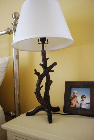 Lake driftwood lamp
