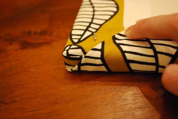 Fabric folded up