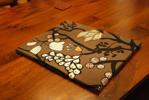 Brown fabric canvas
