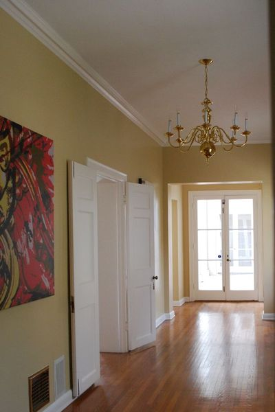 Chandelier entry before