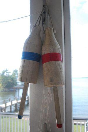 Lake old buoys