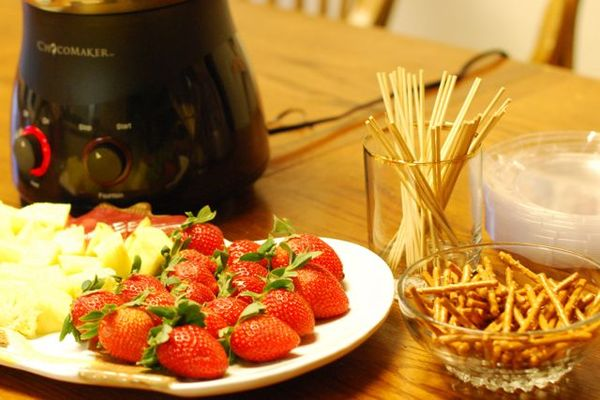 Chocolate fountain fruit