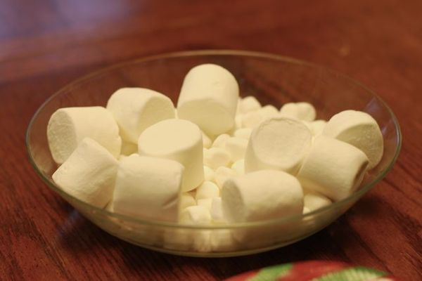 Chocolate fountain marshmallows