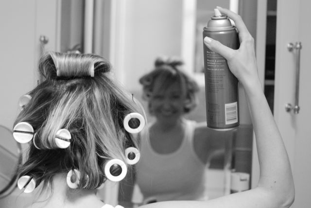 how to hot roller your hair hollywood housewife