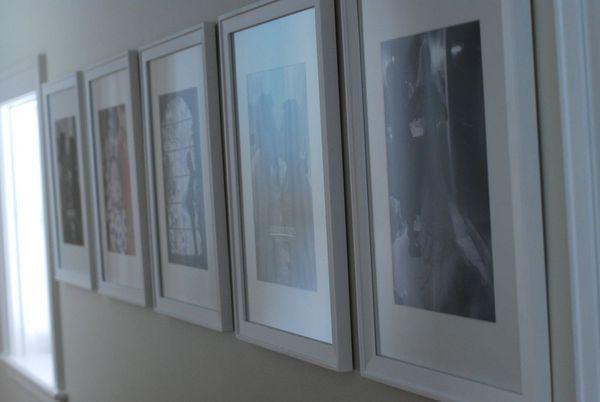 Nesting photo wall