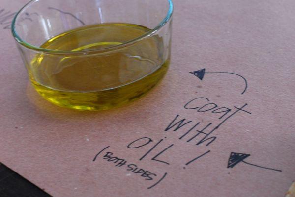 Pizza olive oil