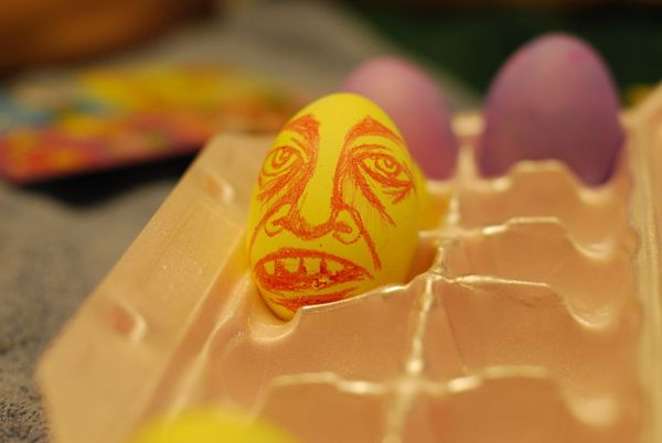 Easter egg face