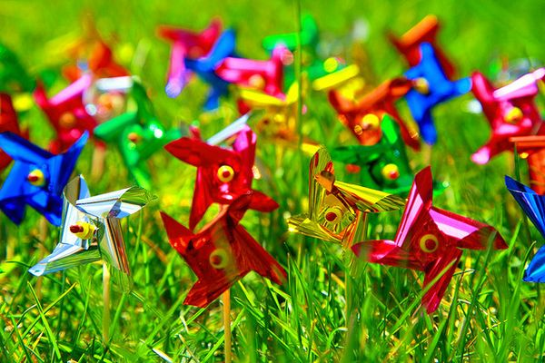 Colored pinwheels
