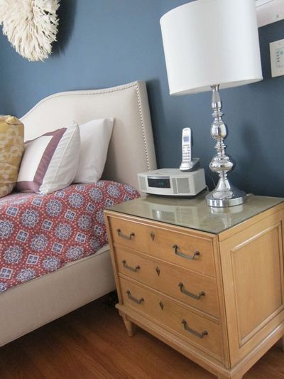 Blond bedside tables