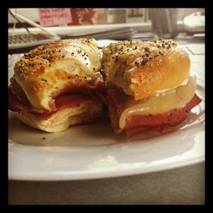 Pastrami on bagel