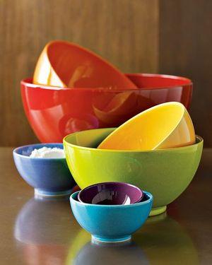 Multicolor mixing bowls