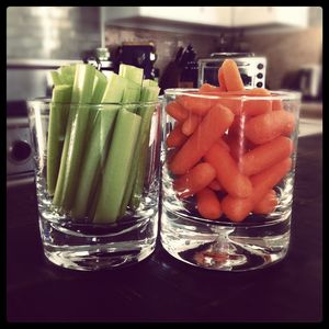 Veggies in tumblers