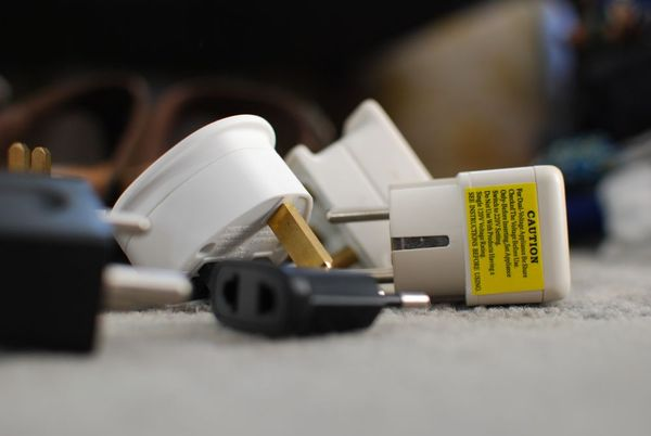 Packing travel adapters