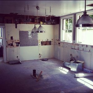 Demo'd kitchen