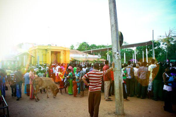 Hindu temple gathering