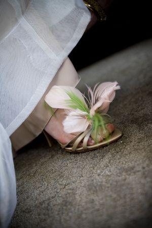 Wedding feather shoes