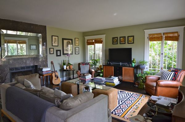 Silverlake home living room on hollywood housewife