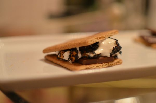 Indoor s'mores on hollywood housewife