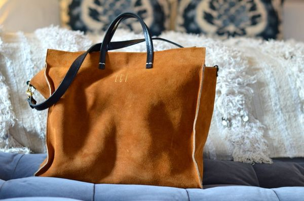 Clare vivier monogrammed tote | hollywood housewife