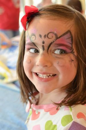 Easter butterfly face paint