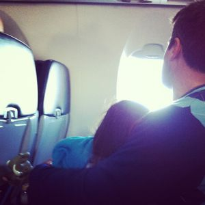 Traveling with kids napping on the airplane