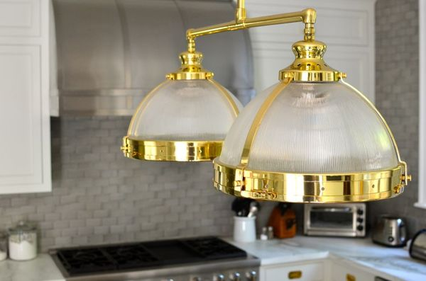 Kitchen-gold-lighting