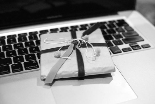 Gift on laptop
