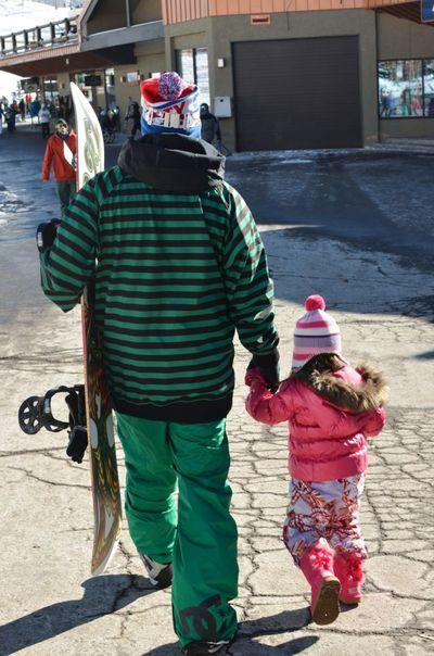 Skiing walking
