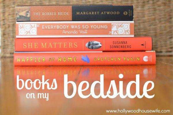 Books on my bedside january