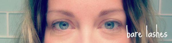 Mascara experiment bare eyelashes