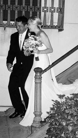Wedding dress leaving