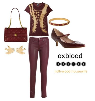 Oxblood outfit 2