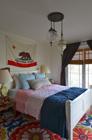 Silverlake home bedroom on hollywood housewife