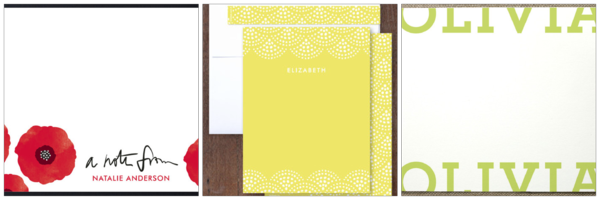 Minted stationary options