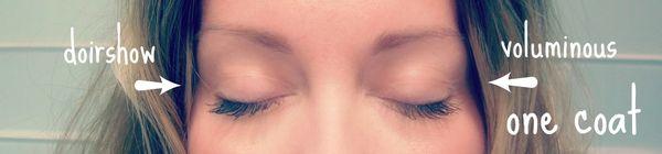 Mascara experiment eyes closed