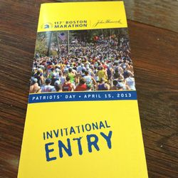 Boston marathon emily invitation