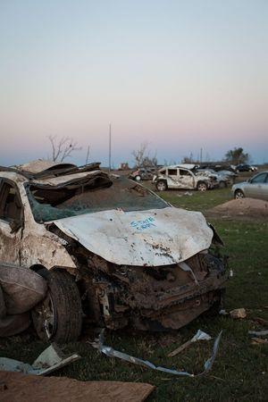 Oklahoma tornado car