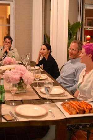 Dinner party with kitchit guests