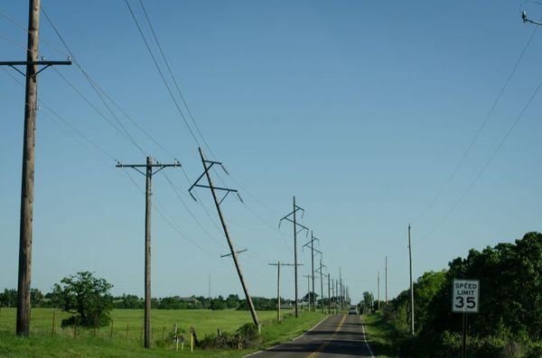 Oklahoma tornado back road