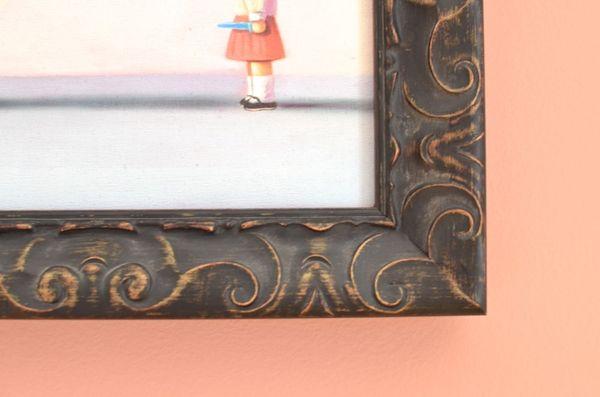 Custom framing canvas painting example