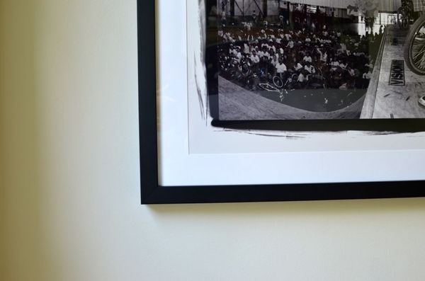 Custom framing photograph black and white