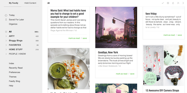 Feedly all photos view