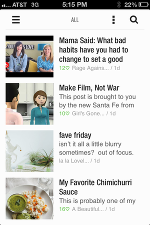 Feedly mobile screenshot