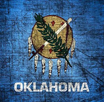 Oklahoma distressed flag