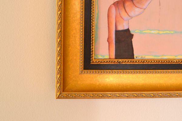 Custom framing canvas painting ornate