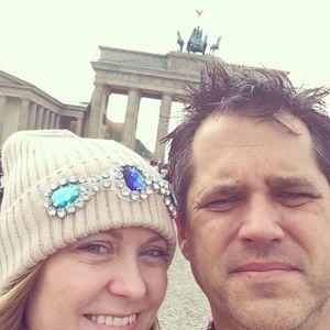 Berlin couple selfie