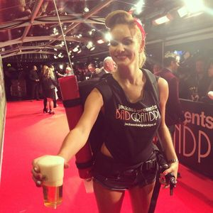 Amsterdam red carpet beer girl