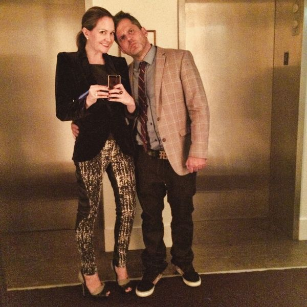 New york hotel hallway selfie